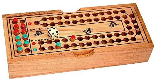 Pferderennen Würfelspiel für 2 Spieler Horse Race lustiges Unterhaltungsspiel Knobelholz Kinderspiel, Brettspiel aus Holz