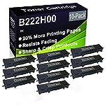 Paquete de 10 cartuchos de impresora compatibles con Lexmark B222H00 de alto rendimiento para impresoras Lexmark B2236DW, MB2236ADW, MB2236ADWE