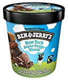 Ben & Jerry's - Vermont's Finest Ice Cream, Non-GMO - Fairtrade - Cage-Free Eggs - Caring Dairy - Responsibly Sourced Packaging, New York Super Fudge Chunk, Pint (8 Count)