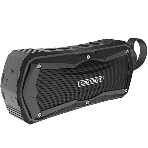 Encased Wireless Bluetooth Speaker (SportBeat) Portable Waterproof Blue Tooth Music Speakers with Carrying Strap for Apple iPhone X/iPhone Xs Max/iPhone XR/iPhone 11/Pro Max