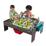 KidKraft- Juguete de vías de tren y mesa, de madera, para niños, juego clásico de actividades ferroviarias con accesorios incluidos (120 piezas) My Own City Vehicle, Color Multicolor (18026) , color/modelo surtido