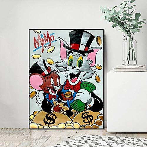 UHvEZ Fotos de Dibujos Animados del Gato y el ratón_1000PCS_Wooden Puzzle_Adult Jigsaw Game Landscape Jigsaw Child Educational Toy Gift_50X75CM
