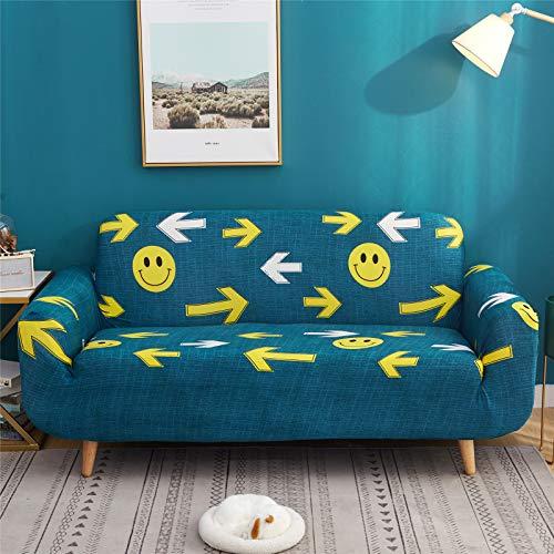 Yellow Smile Funda De Sofá Funda Protectora De Sofá De Hoja Tela De Poliéster Cuatro Estaciones Funda Protectora De Sofá Universal con Todo Incluido Universal