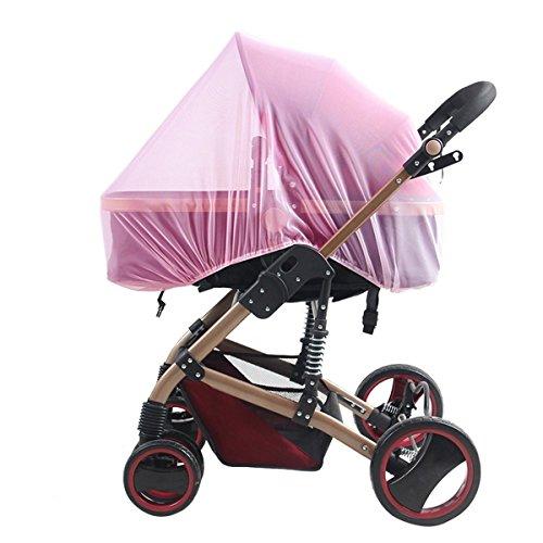 Tininna Fliegengitter Universal Bezug aus Polyester für Kinderwagen und Kinderwagen, Bett, Autositz für Babys, Kinder, Pink