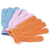 xjdfos Cepillo para el cuerpo 2 piezas Scrubber Resistencia al deslizamiento Masaje corporal Guantes de esponja Ducha Espuma exfoliante Venta caliente en cepillos de baño, múltiples