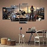 5 cuadros de decoración de pared Forza Motorsport 7 Pinturas art deco Art Deco para cafetería Peluquería Pintura sin marco 150x80cm