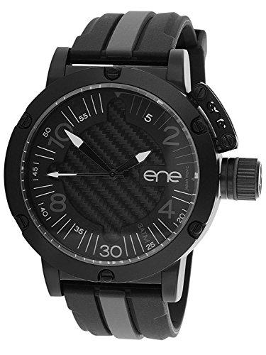 eNe Herren Analog Quarz Uhr mit Gummi Armband 11464