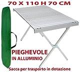 Tavolo tavolino Pieghevole in Alluminio per Campeggio casa Camper...