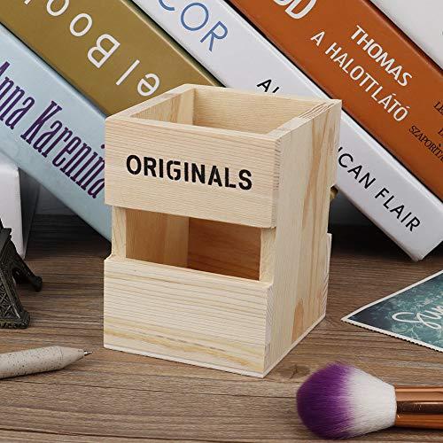 Aoutecen Bonito diseño Hueco de Caja de Almacenamiento para Oficina en casa(Natural Wood Color 5604A-00)