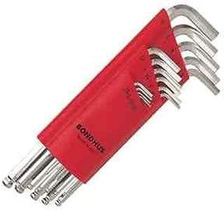 Bondhus 17095 Set of 15 Balldriver L-wrenches w/BriteGuard,sizes 1.27-10mm
