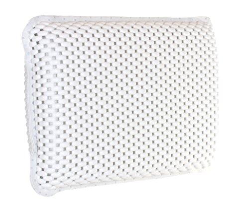 Brandsseller badkussen nekkussen met 8 sterke zuignappen wafelpatroon luxe Spa wellnesskussen van zacht schuim met viscoseffect watervriendelijk PVC ca. 29 x 19 x 5 cm