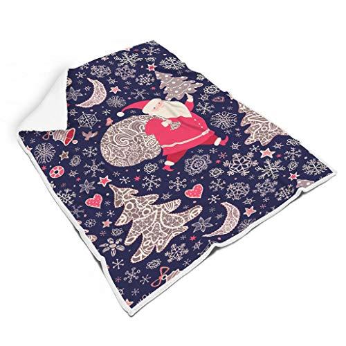 Vrnceit Christmas Flower leicht weiche Decke für Schlafzimmer Herbst Winter Frühling für Baby oder Erwachsene Sonnenscheinstil White 130x150cm