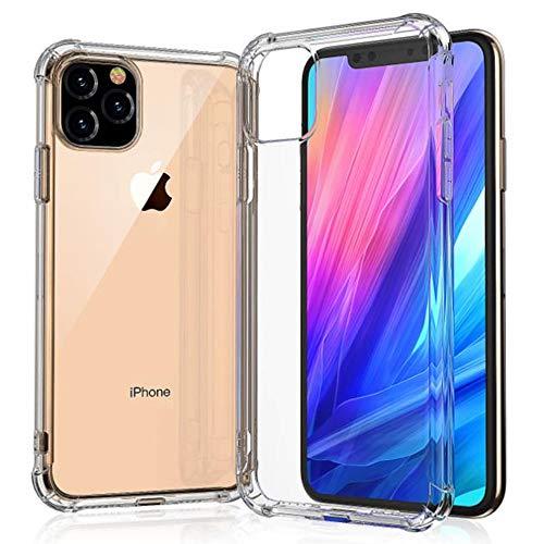 Schutzhülle für iPhone 11 Pro, Lozeguyc iPhone 11 Pro, schlanke harte PC-Rückseite, robuster TPU-Rahmen, kristallklar, Hybrid-Gummi, stoßfest, für iPhone 11 Pro 5,8 Zoll iPhone 11 [6.1 Inch] farblos
