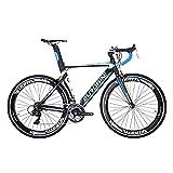 SD XC7000 Bicicleta de carretera para adultos ligera Marco de aluminio Bicicleta de carretera 54CM 700C Marco de bicicleta de carretera (azul)