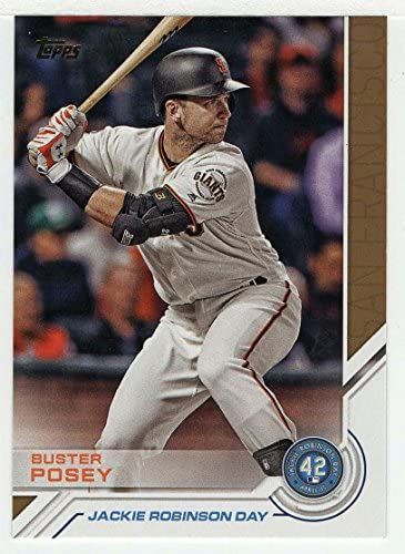 Buster Posey Baseball Card 2017 Topps Bowman Jackie Robinson Day JRD 25 Mint product image