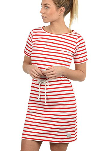 BlendShe ENA Damen Sweatkleid Sommerkleid Kleid Mit Rundhals Aus 100% Baumwolle, Größe:L, Farbe:Fiery Red (26000)