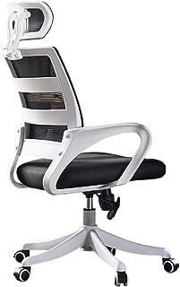 LXF Sillas de Oficina Silla de Oficina Grande para Hombre/Mujer, Sillas giratorias para Trabajo Pesado con reposacabezas/Brazos/Respaldo, Durante largas Horas, Blanco Negro Sillas de Escritorio