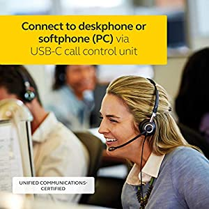 Jabra 2400 II USB DUO CC Wired Headset for Softphone with Noise Cancelling Microphone, Optimized for Unified Communication