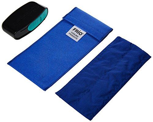 FRIO DOPPEL INSULIN Reisetasche mit MySharps Taschenbehälter für gebrauchte Nadeln