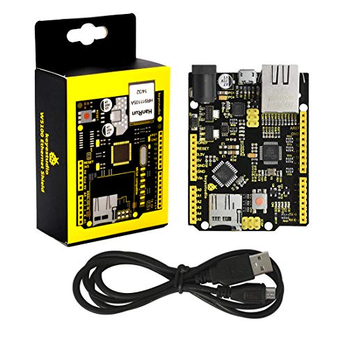 KEYESTUDIO W5500 Ethernet Shield (Without Poe)+USB Cable for Arduino R3 Controller Board Micro SD Shield