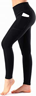 Women's High Waist Yoga Pants with Pockets Tummy Control Workout Running