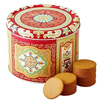Nyakers Gingerbread Snaps Cookie Tin Finest Ginger Snaps Original Flavor Swedish Cookie 750 g - 26.45 oz - 1.65 lbs With Protective Insert