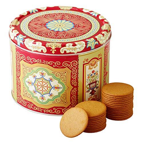 Nyakers Gingerbread Snaps Cookie Tin, Finest Ginger Snaps Original Flavor Swedish Cookie, 750 g - 26.45 oz - 1.65 lbs, With Protective Insert