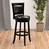 Christopher Knight Home Mallik Reconstituted Leather Swivel Armless Barstool, Espresso