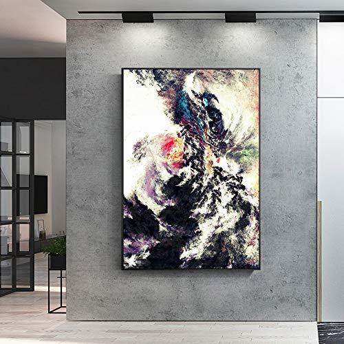 YuanMinglu Abstrakte Wolken Leinwand Pop Art Leinwand Moderne Kunstdrucke Poster und Leinwandbilder Wandkunst Leinwand rahmenlose Bemalung 40x60cm