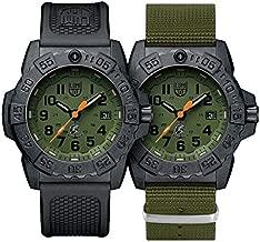 Luminox Mens Wrist Watch Navy Seal XS.3517.NQ.Set - 45mm Black, Green Stainless Steel 200 M Water Resistant