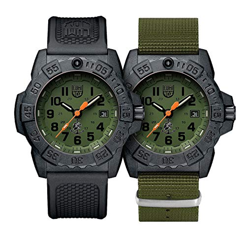 Reloj de Cuarzo Luminox Navy Seal, Verde, Carbono, 45 mm, 20atm, XS.3517.NQ.Set