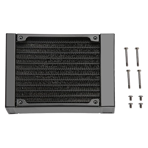 SANON Computer radiator waterkoeling aluminium computer 12 buizen voor processor - 240 mm (120 mm)