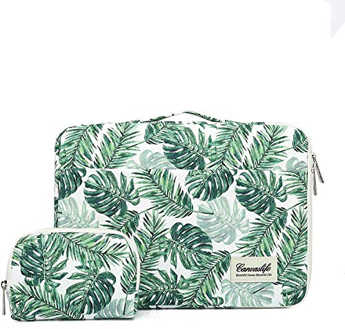 Canvaslife Banana Leaf 360° Protective Waterproof Laptop Case Bag Sleeve with Handle (14 inch)
