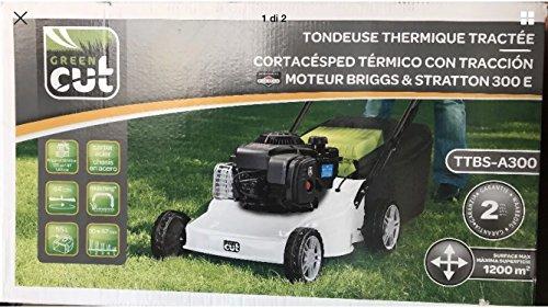 Green Cut ES 464Trbm Tagliaerba A Spingere Mulching, Ruote Motrici Taglio 44Cm