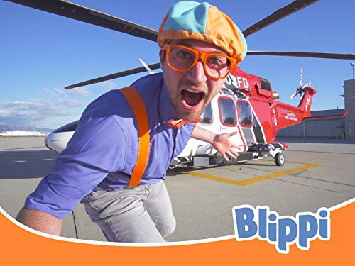 Blippi Explores a Firefighting Helicopter