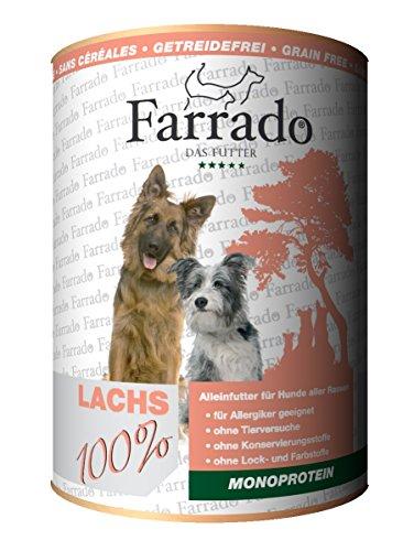 Farrado Premium Nassfutter getreidefrei für Ihren Hund – mit Pferd, Lachs, Kaninchen oder Ente (Lachs)