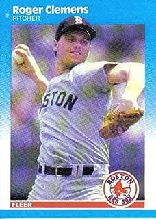 Baseball MLB 1987 Fleer #32 Roger Clemens NM Red Sox