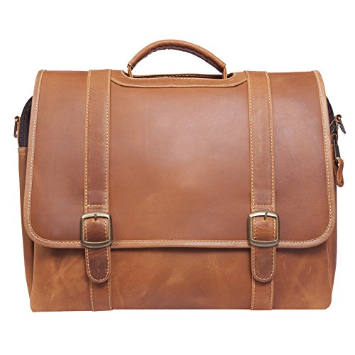 Canyon Outback Leather Goods, Inc. Old Fort Canyon Leather Briefcase for Men and Women - Carry On Laptops and Electronics - Great for Business and Travel