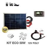 VIASOLAR Kit 50W Eco 12V Panel Solar