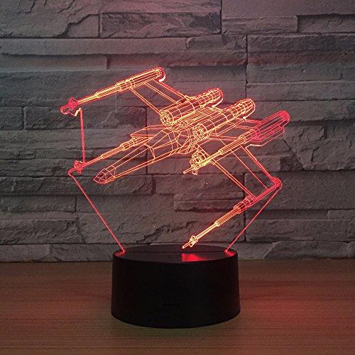 Rood nachtlampje 3D-lichte baby met USB-tabel 3d, de decoratieve nachtlampje slaapkamer slaapkamer-decoratielamp slaapt
