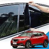OPisuda Etiqueta engomada de la decoración del Poste de la Ventana del Coche Que Labra el Coche, para Nissan Kicks 2016-2020