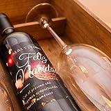 Cadeau de Noël original – Coffret de vin personnalisé avec bouteille et verre pour Noël – Vin à offrir (réserve 24 mois D. O. Ca Rioja)