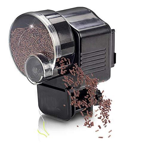 TONGXU Alimentador Automático de Peces a Prueba de Humedad Comederos de Peces Automáticos Dispensador de Comida Acuario para Tanque Estanques Acuario Pescado