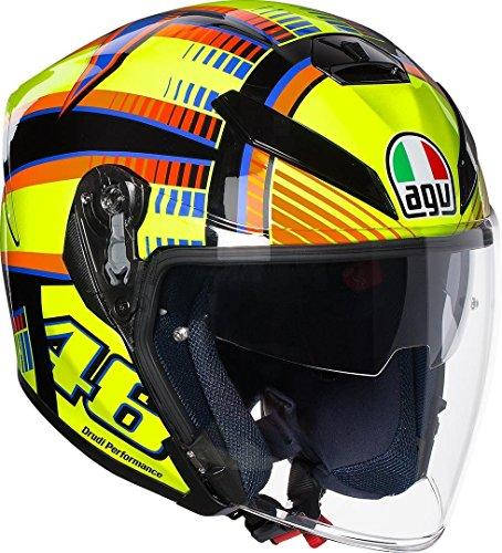 AGV 1131A0G0_001_S Casco de Moto K-5 Jet E2205 Top, Hombre, Soleluna