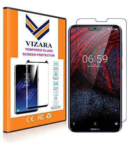 VIZARA™ 0.3 mm 9H Flexible Gorilla Guard Tempered Glass Screen Protector Shield for Nokia 6.1 Plus