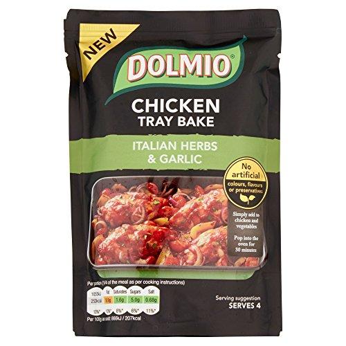 Dolmio Chicken Tray Bake Italian Herb and Garlic Sauce Mix, 8 x 150 g
