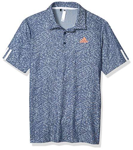 adidas Herren Poloshirt aus der Kollektion 3-Streifen Jacquard, Herren, Polo, 3-Stripes Collection Jacquard Polo Shirt, blau, Medium