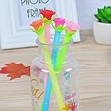 Chakil Füllfederhalter, pinkfarbene Kugelschreiber, runde Spitze, mit Gel-Schreibfeder, ideal für Zuhause, Schule oder Büro