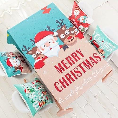 Venta al por mayor barato y de alta calidad. azulLSS Navidad mantel rojo alegre Festival Rectángulo tapa mesa mesa mesa mesa de comedor de telas para la decoración del partido TableclothsTablecloth 1120x120cm  cómodo