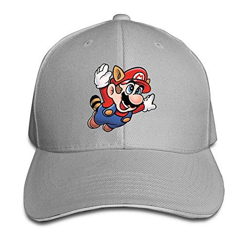Huseki Hotgirl4 Adult Flying Super Mario Bros Adjustable Baseball Cap Black Ash